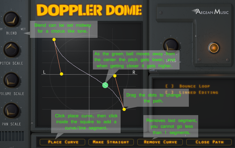 DopplerDome panning effect